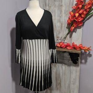 Lane Bryant accordion pleat dress